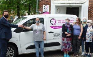 Slect Car Lease Van Arrives at Whitley CDA